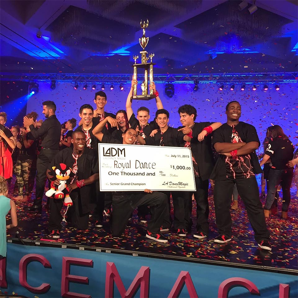 Royal Dance Works guys group wins first place at LA Dance Magic 2015